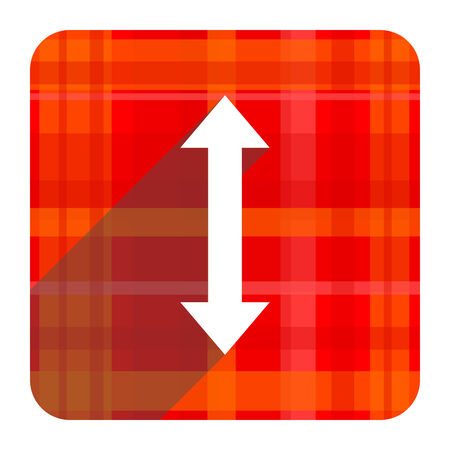 sterring: arrow red flat icon isolated