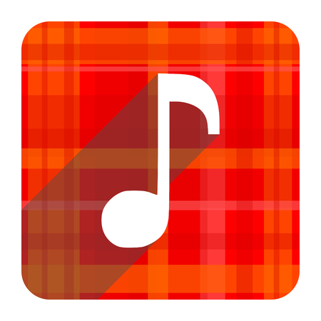 music red flat icon isolated photo