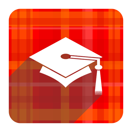 education red flat icon isolated photo