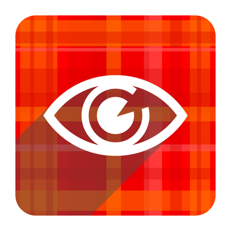 eye red flat icon isolated photo
