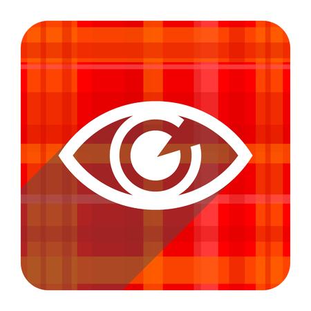 eye red flat icon isolated photo