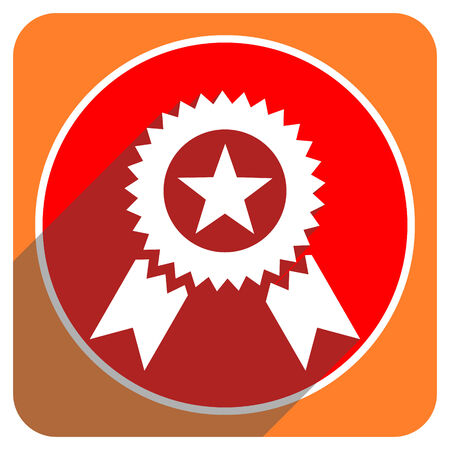 award red flat icon isolated photo