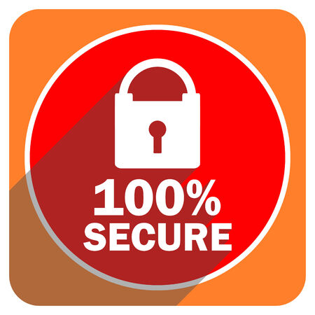 trusty: secure red flat icon isolated