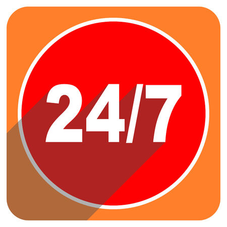 247 red flat icon isolated photo