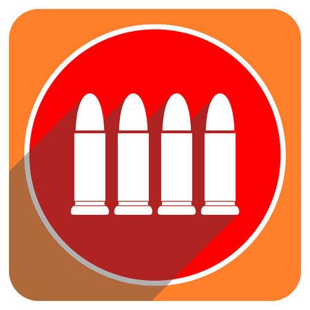 ammunition red flat icon isolated photo