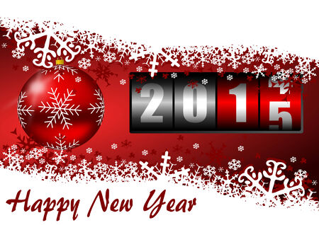 happy new year 2015 illustration with counter illustration