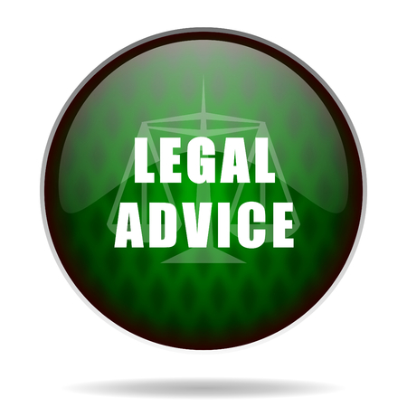 legal advice green internet icon photo