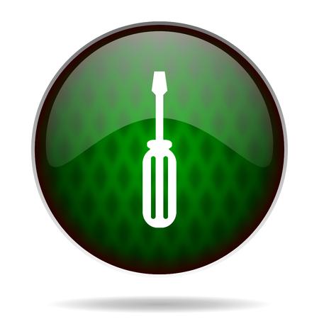 tools green internet icon photo
