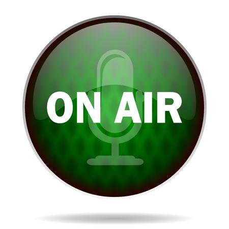 on air green internet icon photo
