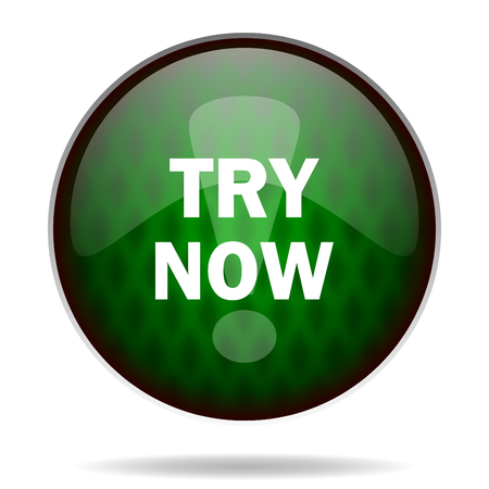 try: try now green internet icon