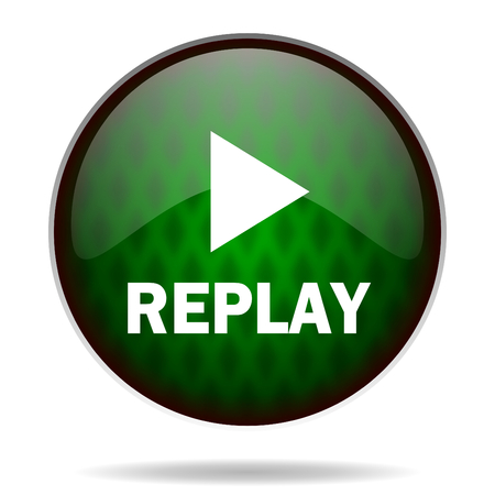 replay green internet icon photo