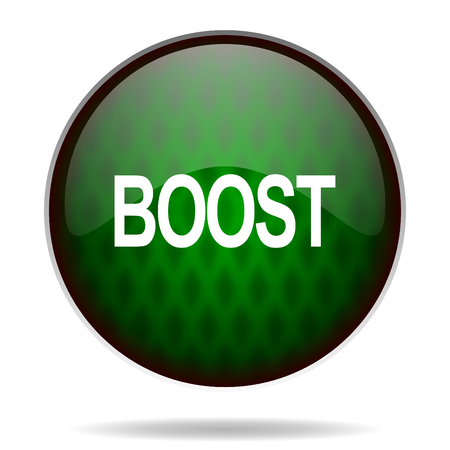 boost: boost green internet icon Stock Photo