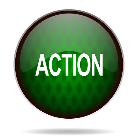 action green internet icon photo