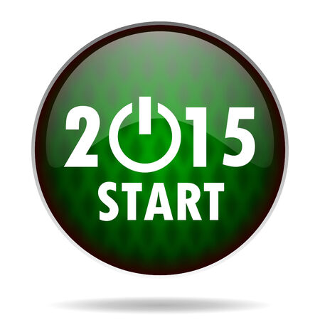 new year 2015 green internet icon photo