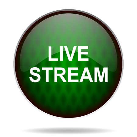 live stream tv: live stream green internet icon