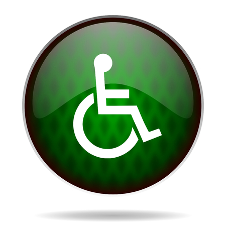 wheelchair green internet icon photo