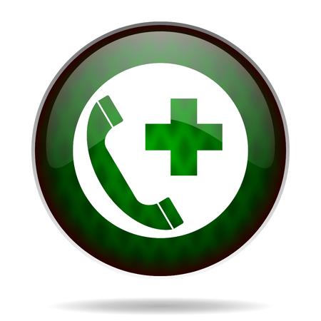 emergency call green internet icon photo