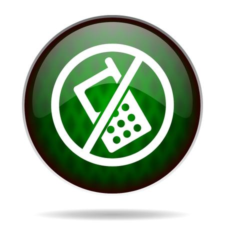 no phone green internet icon photo