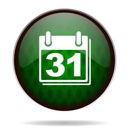 calendar green internet icon photo