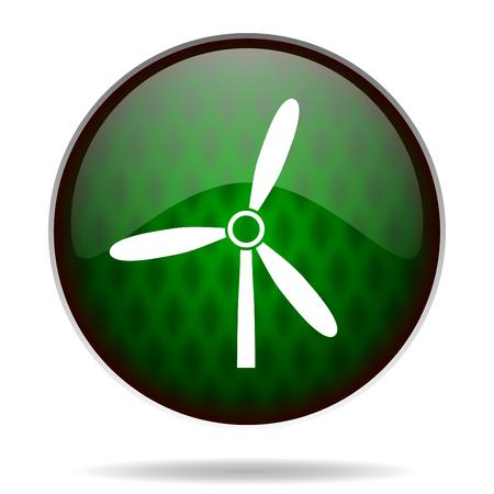 windmill green internet icon photo