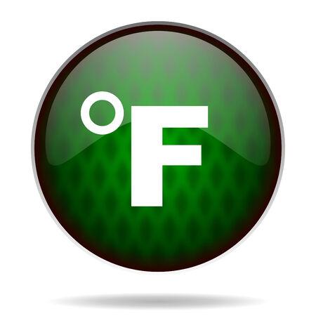 fahrenheit: fahrenheit icono internet verde