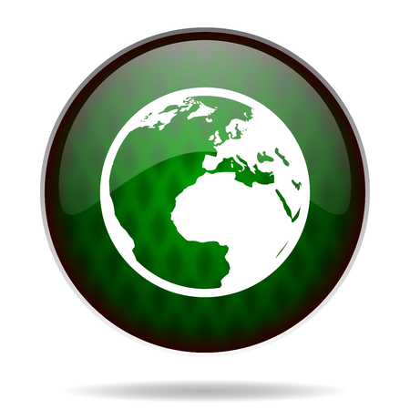earth green internet icon photo