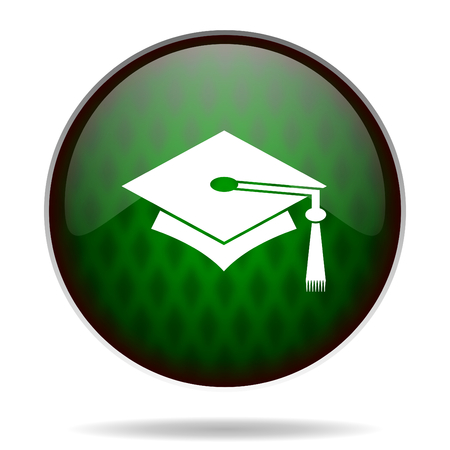 fresh graduate: education green internet icon
