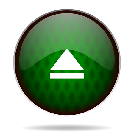 eject: eject green internet icon