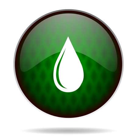 water drop green internet icon photo