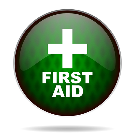 first aid green internet icon photo
