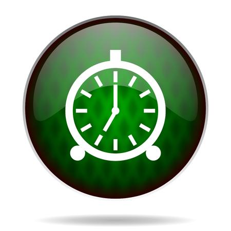 alarm green internet icon photo