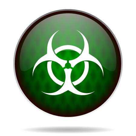 biohazard green internet icon photo