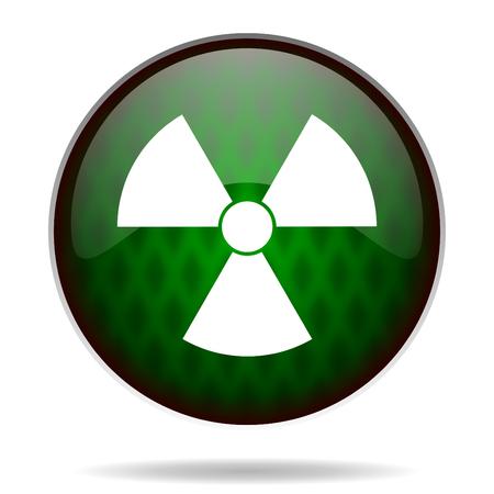 radiation green internet icon photo