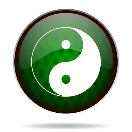 ying yang green internet icon photo