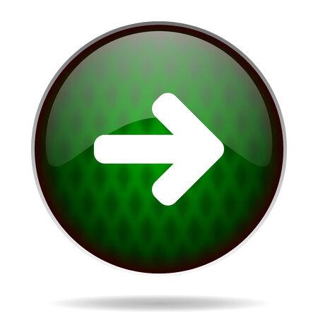 freccia destra: freccia a destra icona internet verde Archivio Fotografico