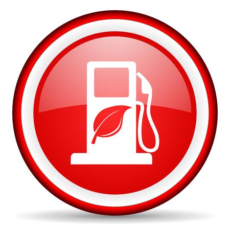 canola: red circle internet icon Stock Photo