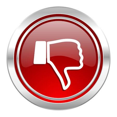 dislike icon, thumb down sign photo