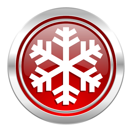 snow icon, air conditioning sign photo
