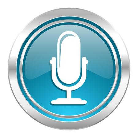 Mikrofon-Symbol, Grüne Taste Gedrückt Und Podcast Zeichen ...