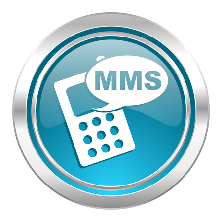 mms icon: mms icon, phone sign Stock Photo