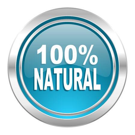 natural icon, 100 percent natural sign photo