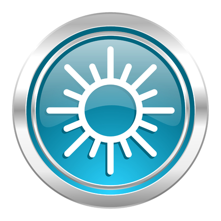 sun icon, waether forecast sign photo
