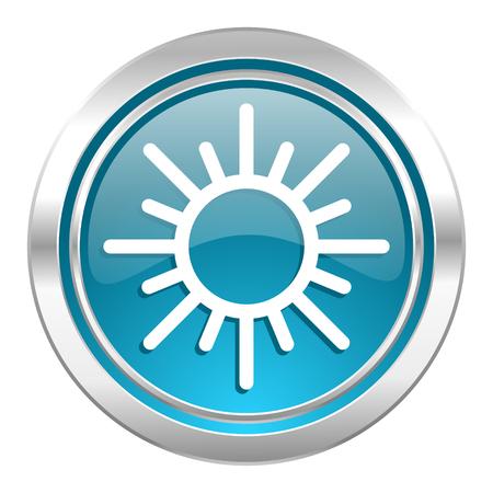 sun icon, waether forecast sign photo