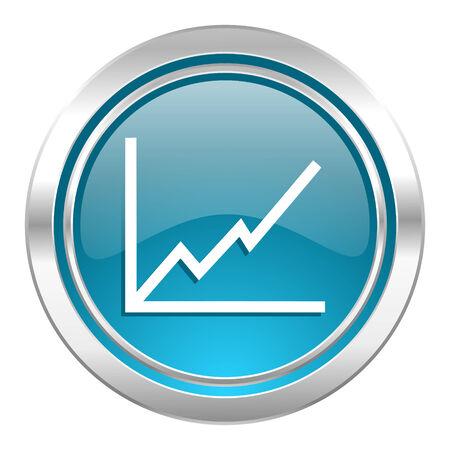 chart icon, stock sign Stock Photo