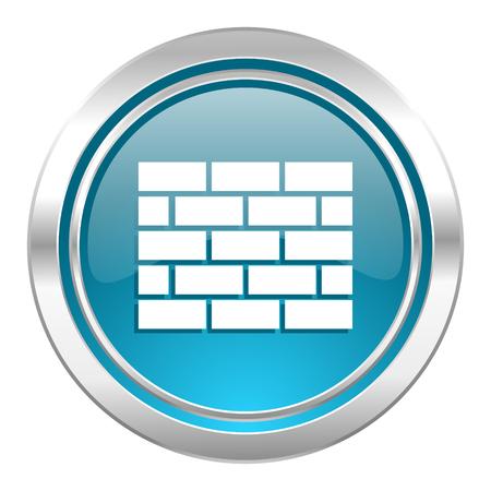 firewall icon, brick wall sign photo