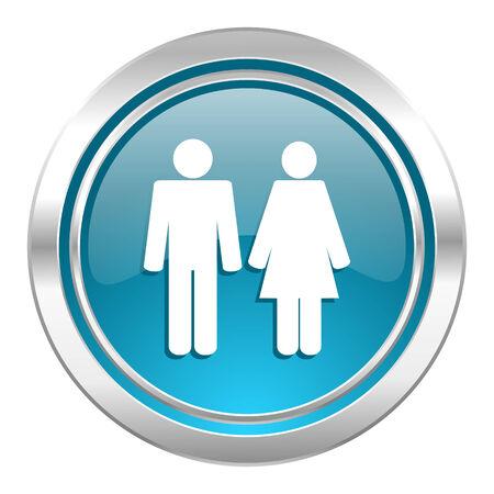 chrome man: couple icon