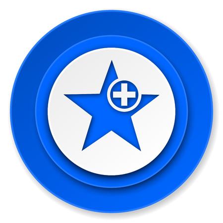 favourite: star icon, add favourite sign Stock Photo