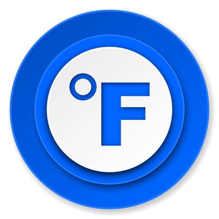 celcius: fahrenheit icon, temperature unit sign Stock Photo