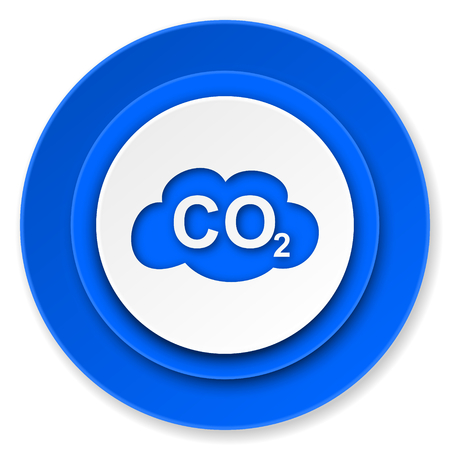 carbon dioxide icon, co2 sign photo