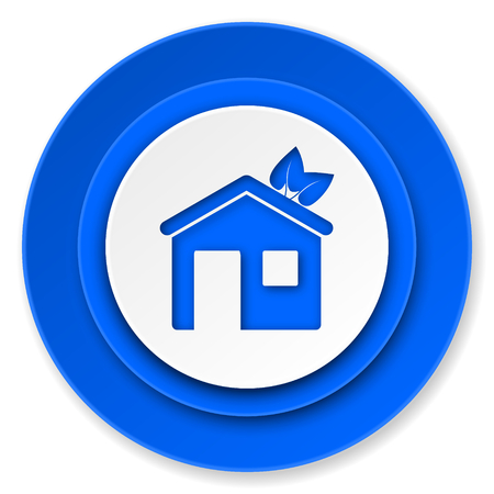 house icon, ecological home symbol photo